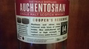 Auchentoshan Cooper's Reserve 14 year (Whisky Lady)