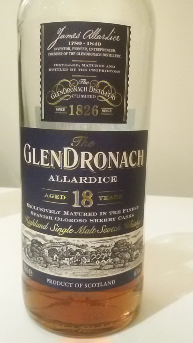 GlenDronach 18 year Allardice 46%