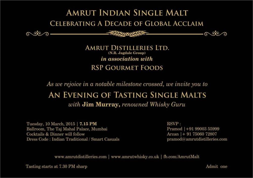 The Mumbai Amrut Jim Murray Experience (1/3)