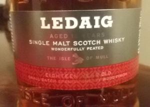 Ledaig 18 label (Whisky Lady)