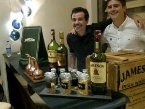 Jameson lads with their set-up