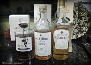 Hibiki Harmony, Aultmore 18, Glenburgie 15