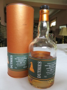 Photo & sample courtesy Whisky Lady's Aunt & Uncle