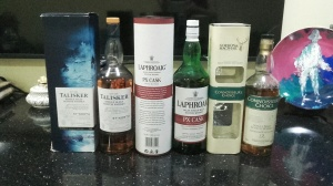 May's trio - Talisker, Laphroaig, Inchgower