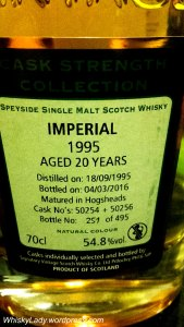 Imperial 20 year closeup