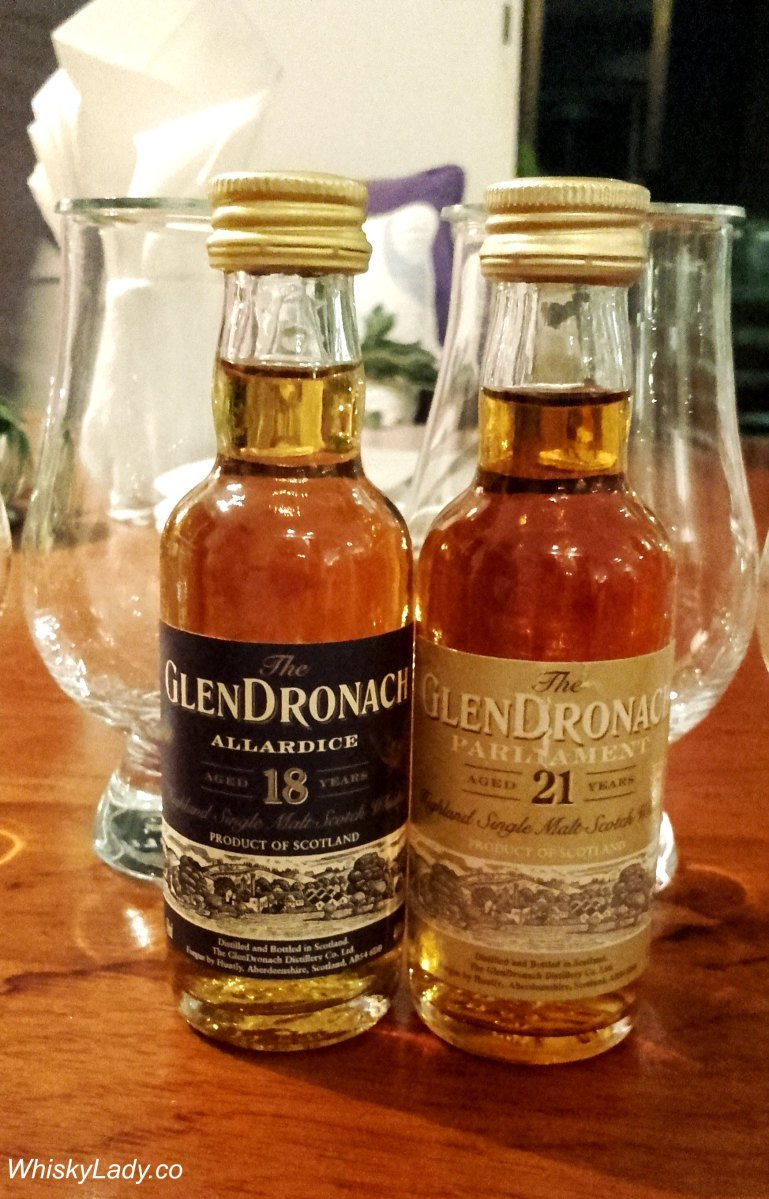 Glendronach 'Allardice' 18 year vs 'Parliament' 21 year