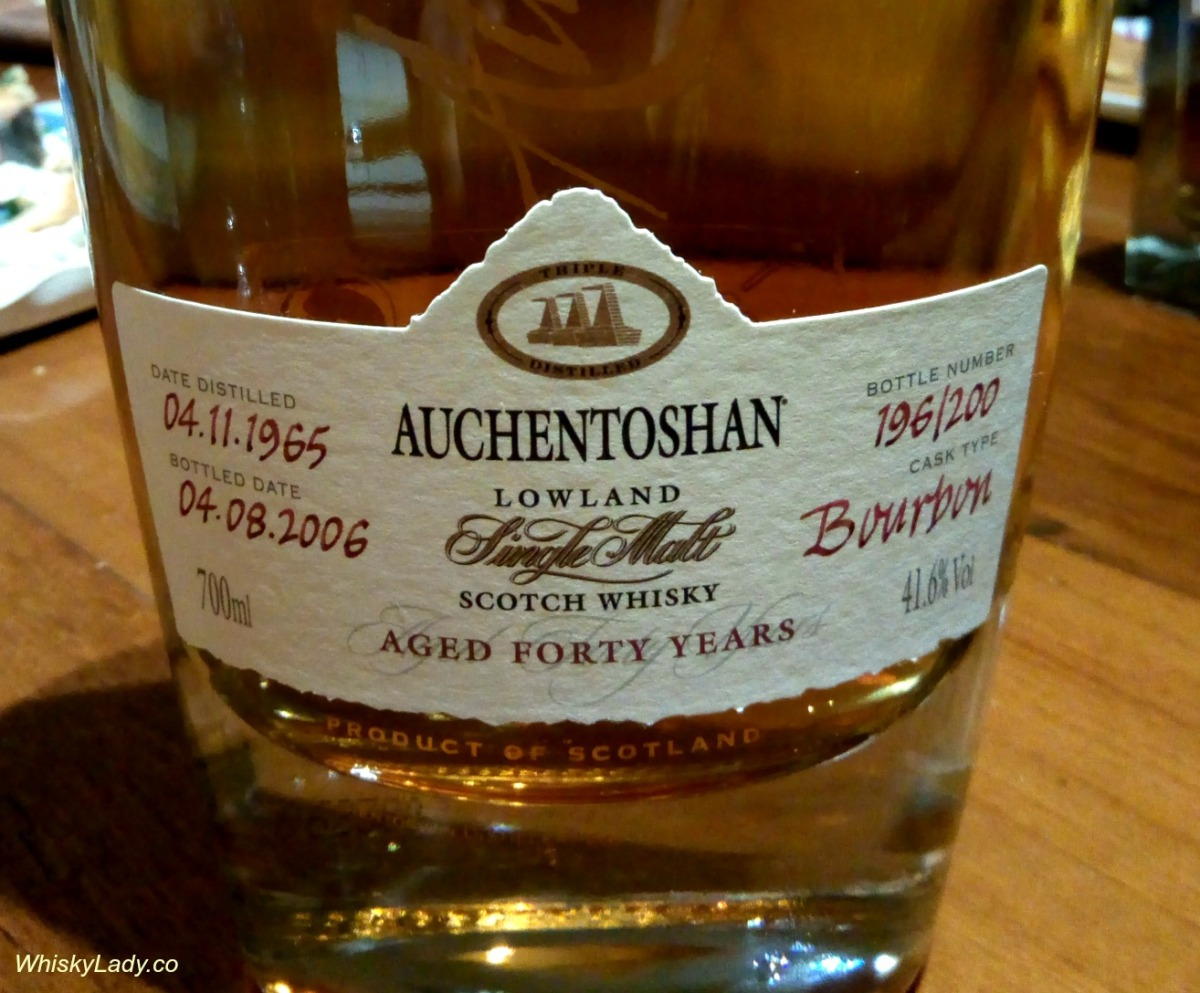 Birthday whisky - Auchentoshan 40 year 41.6%