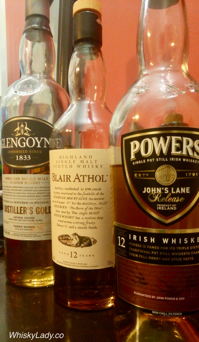 Trio of Glengoyne, Blair Athol, Powers