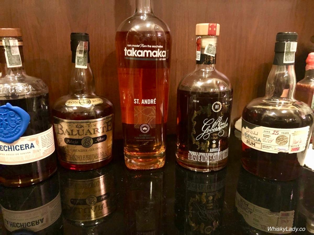 Colombian Rums - La Hechicera, Baluarte 8, Gobernador 12, Dictador Esencia 25