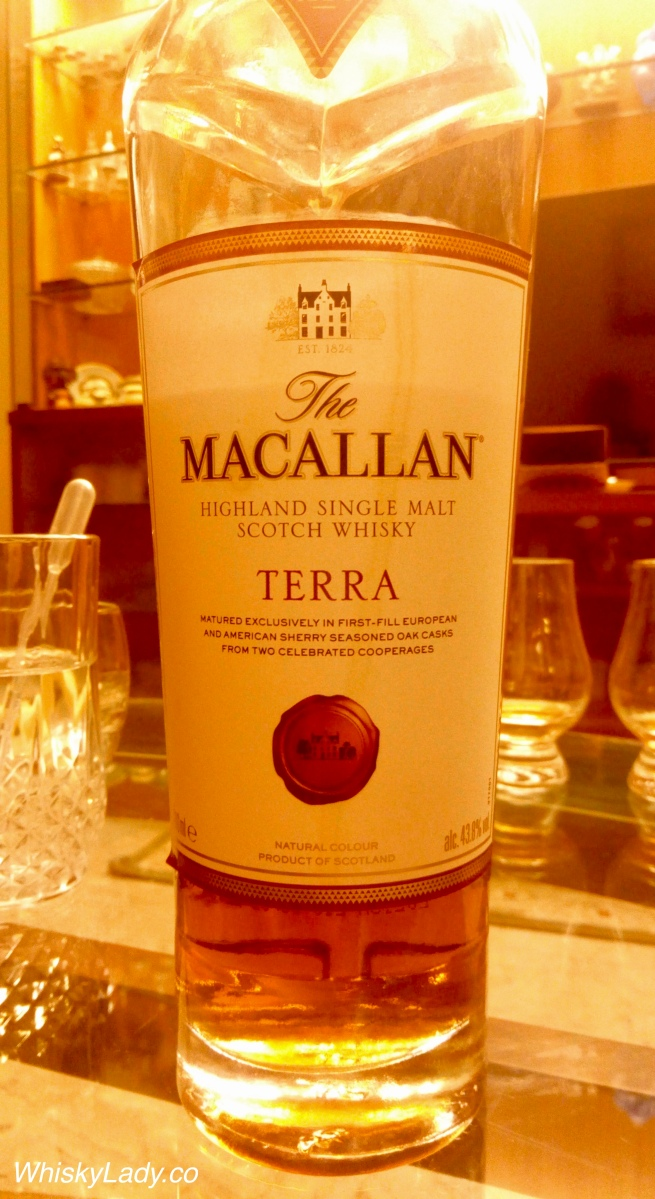 "Macallan Terra 42.8% with a Sherry ""Seasoning"" of Spanish + American Oak..."
