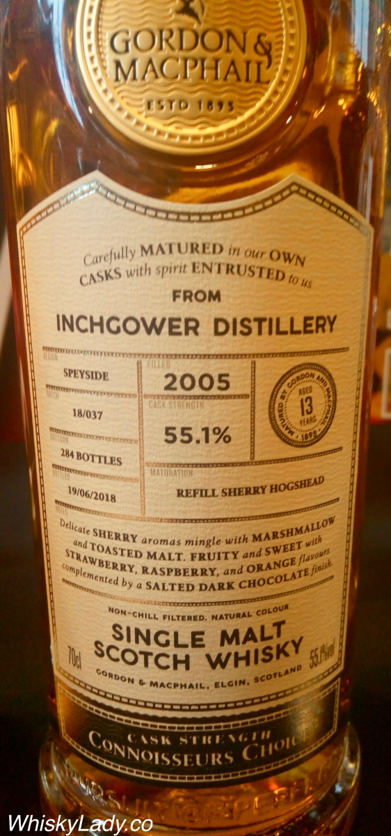 Gordon and Macphail's Inchgower 13 year 55.1%