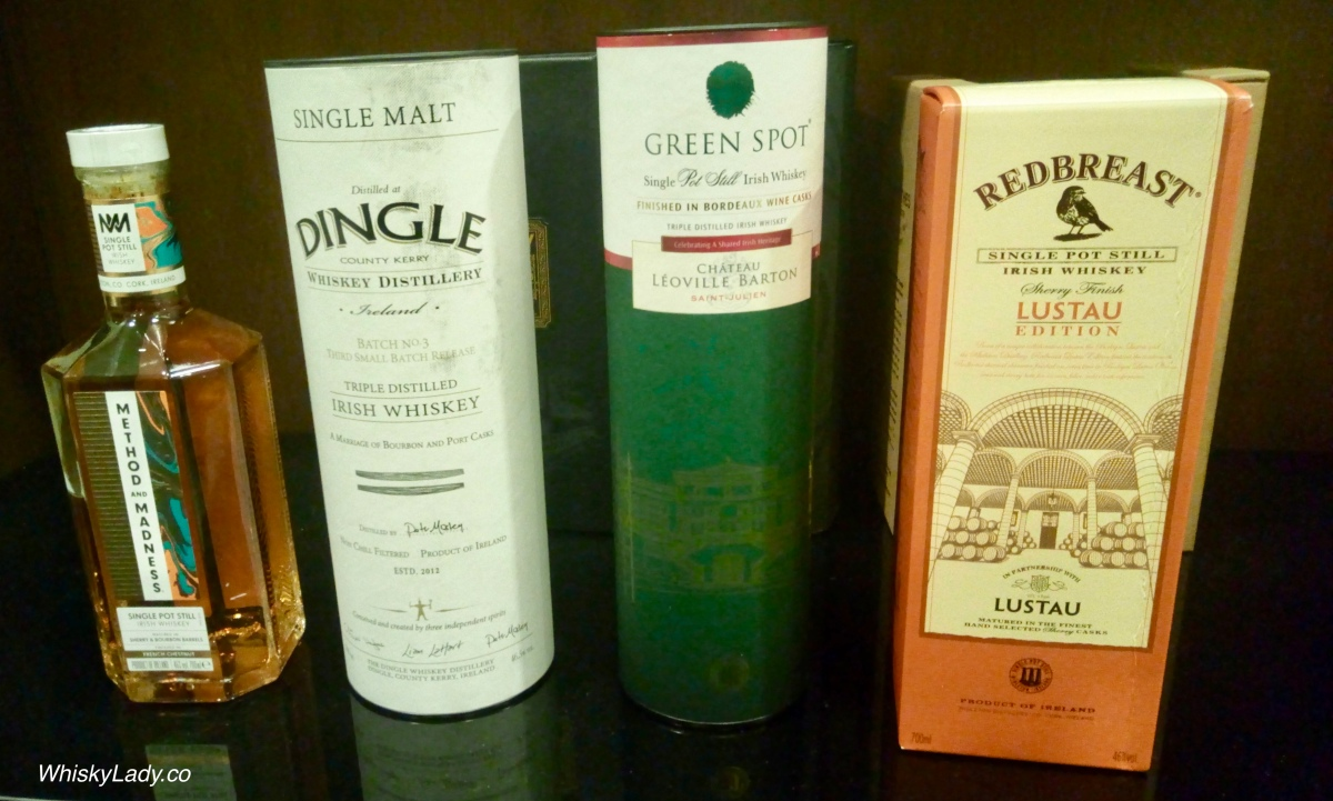Irish Whiskies - Dingle, Green Spot, Method and Madness, Redbreast